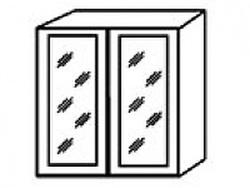 СВ-13В Шкаф-витрина 800х320х700 ( массив ), Боровичи мебель